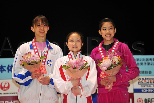 24.04.2011. Tokyo, Jpan.  (L to R) Rie Tanaka (JPN), Koko Tsurumi (JPN), Yuko Shintake (JPN), APRIL 24th, 2011 - Artistic gymnastics : The 65nd All Japan Gymnastics Championship Individual All-Around , Women's Individual 2nd day at 1nd Yoyogi Gymnasium, Tokyo, Japan.