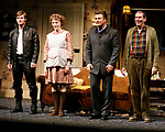 Chris Carmack, Jan Maxwell, Alec Baldwin and Richard Easton during the Curtain Call for The Opening Night Performance of The Roundabout Theatre Company's Production of  ENTERTAINING MR. SLOANE at the Laura Pels Theatre in New York City.<br />