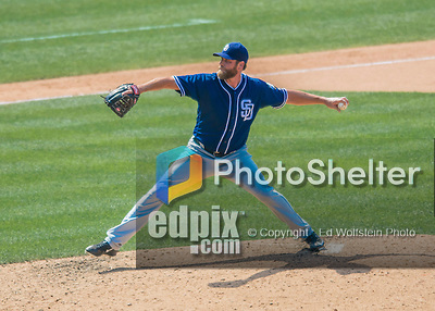 24 July 2016: San Diego Padres pitcher Matt Thornton on the mound against the Washington Nationals at Nationals Park in Washington, DC. The Padres defeated the Nationals 10-6 to take the rubber match of their 3-game, weekend series. Mandatory Credit: Ed Wolfstein Photo *** RAW (NEF) Image File Available ***