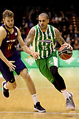 7th January 2018, San Pablo Sports Municipal Palace, Seville, Spain; Endesa League Basketball, Real Betis Energia Plus versus FC Barcelona Lassa; Blake from Betis Plus brings the ball foward