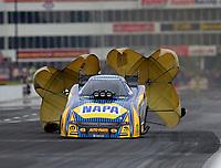 May 5, 2018; Commerce, GA, USA; NHRA funny car driver Ron Capps during qualifying for the Southern Nationals at Atlanta Dragway. Mandatory Credit: Mark J. Rebilas-USA TODAY Sports