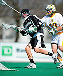 3 April 2010: Binghamton University Bearcats' Attacker Jeff Rurey, a Senior from Vestal, NY, in action against the University of Vermont Catamounts at Moulton Winder Field in Burlington, Vermont. The Catamounts defeated the visiting Bearcats 11-8 in Vermont's opening home game of the 2010 season. Mandatory Credit: Ed Wolfstein Photo