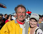 "Unlimited Champion Robert ""Hoot"" Gibson and Marilyn Newton at the Air Races at the Reno-Stead Airfield on Sunday, Sept. 20, 2015."