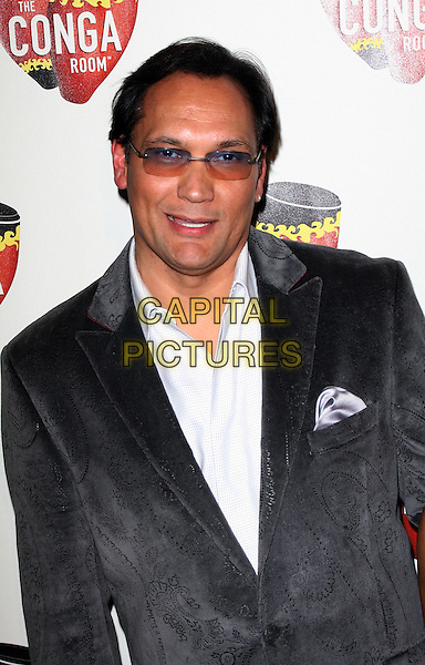 JIMMY SMITS .The Conga Room Grand Opening Celebration at Nokia LA Live, Los Angeles, California, USA..December 10th, 2008.half length smitts grey gray suit jacket white shirt tinted glasses .CAP/ADM/KB.©Kevan Brooks/AdMedia/Capital Pictures.