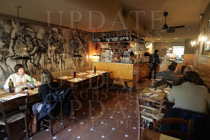 L'interno della trattoria Borgo Antico a Firenze.<br /> Interior of the trattoria Borgo Antico in Florence.<br /> UPDATE IMAGES PRESS/Riccardo De Luca