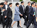 Japanese Prime Minister Shinzo Abe leaves for Italy at to attend G7 summit