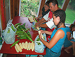 Preparing sweet corn for barbeque