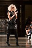LONDON, ENGLAND - London Fashion Week, fashion designer Romina Karamanea, Vauxhall Fashion Scout