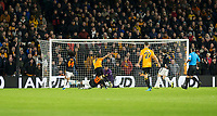 4th January 2020; Molineux Stadium, Wolverhampton, West Midlands, England; English FA Cup Football, Wolverhampton Wanderers versus Manchester United; Pedro Neto of Wolverhampton Wanderers takes a shot at goal - Strictly Editorial Use Only. No use with unauthorized audio, video, data, fixture lists, club/league logos or 'live' services. Online in-match use limited to 120 images, no video emulation. No use in betting, games or single club/league/player publications