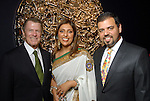 Peter Marzio with Nidhika and Pershant Mehta at the Arts of India Gallery launch party at the Museum of Fine Arts Houston Thursday May 14,2009.(Dave Rossman/For the Chronicle)