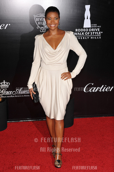 Gabrielle Union at the 2009 Rodeo Drive Walk of Style Awards which honored Princess Grace of Monaco (posthumous) and French jeweler Cartier..October 22, 2009  Beverly Hills, CA.Picture: Paul Smith / Featureflash
