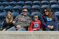 Bridgeview, IL - Saturday April 22, 2017: Fans during a regular season National Women's Soccer League (NWSL) match between the Chicago Red Stars and FC Kansas City at Toyota Park.