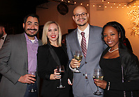 NWA Democrat-Gazette/CARIN SCHOPPMEYER Jorge Garcia and Rachel Ludeman (from left) and Jacob and Ashley McElroy help support the Symphony of Northwest Arkansas.