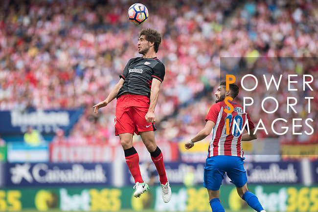 Benat Etxebarria Urkiaga (L) of Athletic Club vies for the ball with Yannick Ferreira Carrasco (R)  of Atletico de Madrid during their La Liga match between Atletico de Madrid vs Athletic de Bilbao at the Estadio Vicente Calderon on 21 May 2017 in Madrid, Spain. Photo by Diego Gonzalez Souto / Power Sport Images
