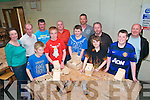 Dads & Lads : Students from Ballyduff Central NS who took part in Woodwork for Dads & Lads at Causway Comprehensive School pictured on the final evening of classes on Thurday last. Front : Dylan Browne, Sean williams, Eric kennelly, Andrew Dalton & David Linnane. Back : Maura Enright, Class teacher, Tom Kissane , Facilitator,  Tom Browne, Vincent Linnane, Martin Kennelly, Joe Dalton & Mike Williams.