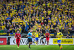 Solna 2013-11-19 Fotboll VM-kval Playoff , Sverige - Portugal :  <br /> Sverige supportrar<br /> (Photo: Kenta J&ouml;nsson) Keywords:  Sweden Portugal supporter fans publik supporters