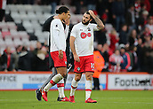 3rd December 2017, Vitality Stadium, Bournemouth, England; EPL Premier League football, Bournemouth versus Southampton; Southampton's Charlie Austin and Virgil van Dijk chat at full time