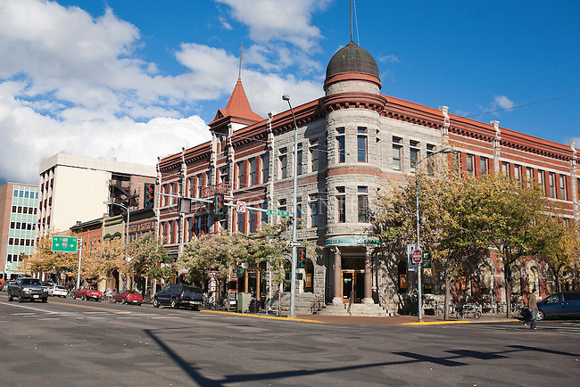 Downtown Missoula, Montana scene on Higgins Avenue