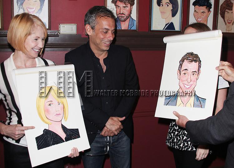 Ellen Barkin & Joe Mantello attends Sardi's unveils Caricatures of 'The Normal Heart' Tony Award Nominees Ellen Barkin, John Benjamin Hickey & Joe Mantello at Sardi's in New York City.
