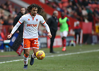 Blackpool's Nya Kirby in action<br /> <br /> Photographer David Shipman/CameraSport<br /> <br /> The EFL Sky Bet League One - Charlton Athletic v Blackpool - Saturday 16th February 2019 - The Valley - London<br /> <br /> World Copyright © 2019 CameraSport. All rights reserved. 43 Linden Ave. Countesthorpe. Leicester. England. LE8 5PG - Tel: +44 (0) 116 277 4147 - admin@camerasport.com - www.camerasport.com