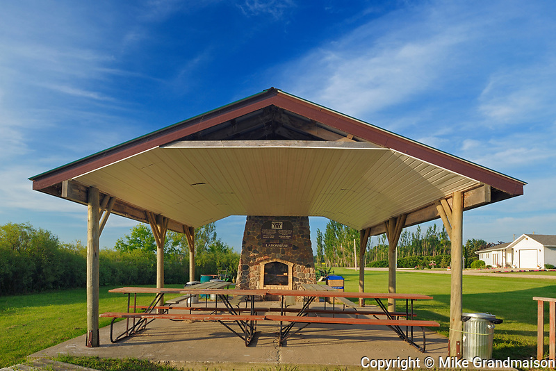 Picnic shelter, St. Leon, Manitoba, Canada