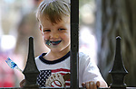 Brockton Marcus, 3, enjoys cake following the annual Flag Day ceremony and Army's 243rd birthday celebration at the Nevada Veterans Memorial in Carson City, Nev., on Thursday, June 14, 2018. <br /> Photo by Cathleen Allison/Nevada Momentum