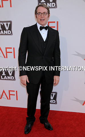 "MATHEW BRODERICK.attends TV Land Presents: The AFI Life Achievement Awards Honoring Morgan Freeman at Sony Pictures Studios, Culver City, California_9 June 2011.Mandatory Photo Credit: ©Crosby/Newspix International. .**ALL FEES PAYABLE TO: ""NEWSPIX INTERNATIONAL""**..PHOTO CREDIT MANDATORY!!: NEWSPIX INTERNATIONAL(Failure to credit will incur a surcharge of 100% of reproduction fees)..IMMEDIATE CONFIRMATION OF USAGE REQUIRED:.Newspix International, 31 Chinnery Hill, Bishop's Stortford, ENGLAND CM23 3PS.Tel:+441279 324672  ; Fax: +441279656877.Mobile:  0777568 1153.e-mail: info@newspixinternational.co.uk"