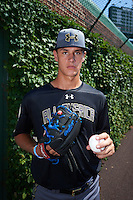 Kyle Muller (19) of Jesuit College Prep in Dallas, Texas poses for a photo before the Under Armour All-American Game on August 15, 2015 at Wrigley Field in Chicago, Illinois. (Mike Janes/Four Seam Images)