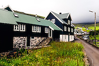Faroe Islands. Kvívík on the west coast of Streymoy.