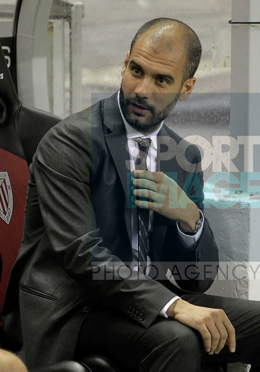 FC Barcelona's coach Pep Guardiola during La Liga match.September 25,2010. Photo: Acero / ALTER / ALFAQUI