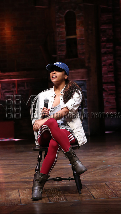 Sasha Hollinger  during the #EduHam Q & A at the Richard Rodgers Theatre on November 15, 2017 in New York City.