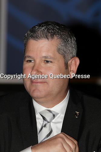 Frank Kollmar, président-directeur général de L'Oréal Canada inc., prononce une allocution à l'intention de la communauté d'affaires lors d'un déjeuner-conférence du Cercle canadien de Montreal, lundi 16 mai 2016.<br /> <br /> <br /> Frank Kollmar, President & CEO of L'Oréal Canada inc., address the business community, Monday May 16, 2016,<br /> <br /> PHOTO :  Agence Quebec Presse