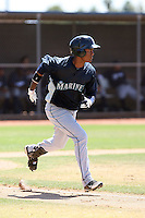 Phillips Castillo #41 of the Seattle Mariners plays in an extended spring training game against the Milwaukee Brewers at the Mariners minor league complex on May 21, 2011  in Peoria, Arizona. .Photo by:  Bill Mitchell/Four Seam Images.