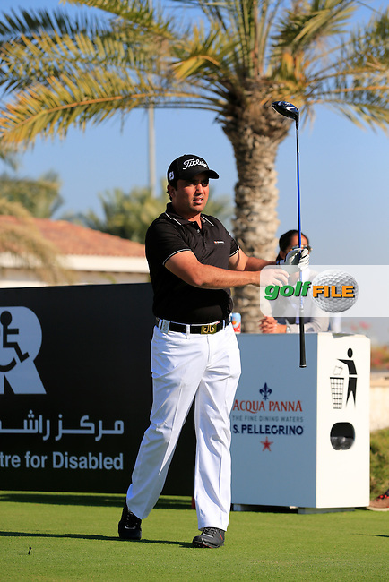 Shariar Khodjasteh on the 10th tee to start his match during the 2015 Abu Dhabi Invitational Am-Am event held at Yas Links Golf Course, Abu Dhabi.: Picture Eoin Clarke, www.golffile.ie: 1/26/2015