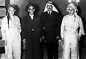 Jordan 1957.Amman: Kurdish members of Iraqi Parliament, right Mahmoud Khalifa Bradosti, with the representative of King Hussein  <br /> <br /> Jordanie 1957. A Amman,les deputes kurdes du parlement irakien avec le representant du roi Hussein ,a droite Mahmoud Khalifa  Bradosti