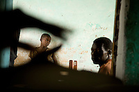 People waiting for treatment at a Health clinic supported by MSF in Makpandu South Sudan.
