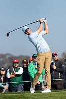 25th January 2020, Torrey Pines, La Jolla, San Diego, CA USA;  Chris Baker hits a tee shot during round 3 of the Farmers Insurance Open at Torrey Pines Golf Club on January 25, 2020
