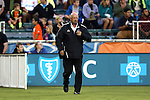 03 September 2016: Carolina head coach Colin Clarke (NIR). The Carolina RailHawks hosted the Jacksonville Armada at WakeMed Stadium in Cary, North Carolina in a 2016 North American Soccer League Fall Season game. Carolina won the match 1-0.
