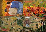 Published photography by Larry Angier..Postcard promotion for annual open house for Amador Foothill Winery