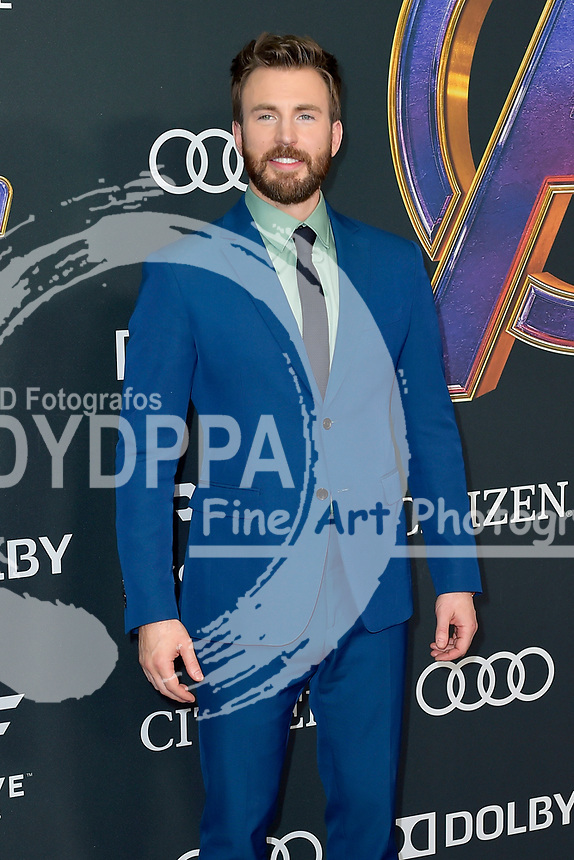 Chris Evans bei der Weltpremiere des Kinofilms 'Avengers: Endgame' im Los Angeles Convention Center. Los Angeles, 22.04.2019