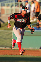 Batavia Muckdogs infielder Jonathan Rodriguez (28) during a game vs. the Mahoning Valley Scrappers at Eastwood Field in Niles, Ohio;  June 24, 2010.   Batavia defeated Mahoning Valley 6-3.  Photo By Mike Janes/Four Seam Images