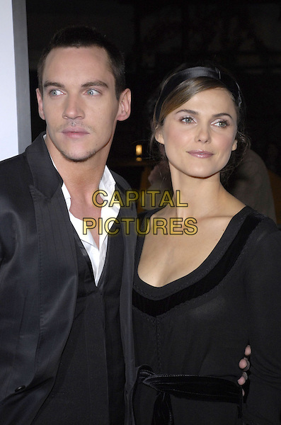 "JONATHAN RHYS MEYERS & KERI RUSSELL.The New York premiere of Warne Bros. Pictures' ""August Rush"" held at  the Ziegfeld Theater, New York, New York, USA..November 11th, 2007.half length black headband dress myers.CAP/ADM/BL.©Bill Lyons/AdMedia/Capital Pictures. *** Local Caption ***"