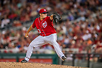 29 July 2017: Washington Nationals pitcher Matt Albers on the mound against the Colorado Rockies at Nationals Park in Washington, DC. The Rockies defeated the Nationals 4-2 in the first game of their 3-game weekend series. Mandatory Credit: Ed Wolfstein Photo *** RAW (NEF) Image File Available ***