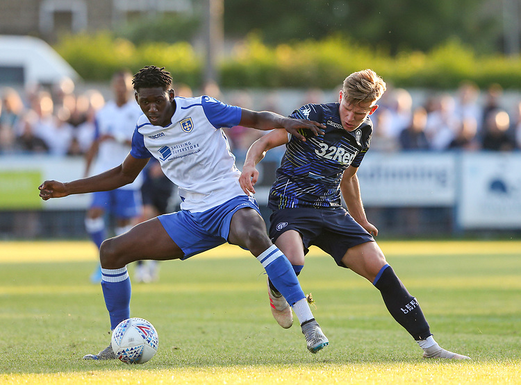 Leeds United's Mateusz Bogusz in action<br /> <br /> Photographer Alex Dodd/CameraSport<br /> <br /> Football Pre-Season Friendly - Guiseley v Leeds United - Thursday July 11th 2019 - Nethermoor Park - Guiseley<br /> <br /> World Copyright © 2019 CameraSport. All rights reserved. 43 Linden Ave. Countesthorpe. Leicester. England. LE8 5PG - Tel: +44 (0) 116 277 4147 - admin@camerasport.com - www.camerasport.com