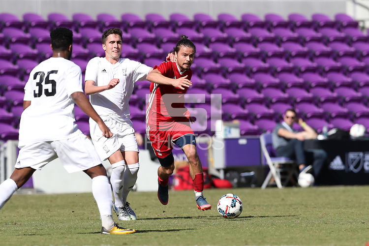 Orlando, Florida - Wednesday January 17, 2018: Manuel Cordeiro. Match Day 3 of the 2018 adidas MLS Player Combine was held Orlando City Stadium.