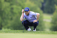 Branden Grace (RSA) lines up his putt on the 2nd green during Sunday's Final Round of the WGC Bridgestone Invitational 2017 held at Firestone Country Club, Akron, USA. 6th August 2017.<br /> Picture: Eoin Clarke | Golffile<br /> <br /> <br /> All photos usage must carry mandatory copyright credit (&copy; Golffile | Eoin Clarke)