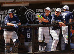 Lake Country Lutheran's Austin Alvord squirts his teammates with a water gun before top of the seventh inning against Chequamegon during the WIAA State Baseball Division 3 semifinal game at Neuroscience Group Field at Fox Cities Stadium in Grand Chute, Wis., on June 17, 2015. Photo by Corey Wilson