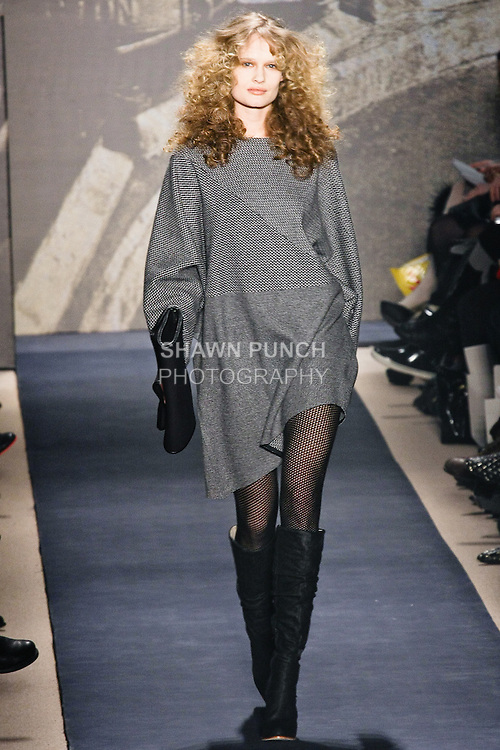 Model walks runway in Ports 1961 Fall 2010 Craeft Collection outfit during Mercedes-Benz Fashion Week.