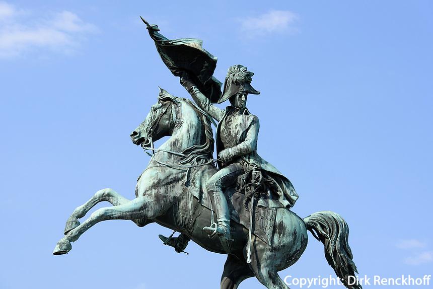 Denkmal Erzherzog Karl auf dem Heldenplatz, Wien, &Ouml;sterreich, UNESCO-Weltkulturerbe<br /> monument archduke Karl on Heldenplatz, Vienna, Austria, world heritage