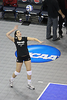 Omaha, NE - DECEMBER 20:  Middle blocker Stephanie Browne #15 of the Stanford Cardinal during Stanford's 20-25, 24-26, 23-25 loss against the Penn State Nittany Lions in the 2008 NCAA Division I Women's Volleyball Final Four Championship match on December 20, 2008 at the Qwest Center in Omaha, Nebraska.